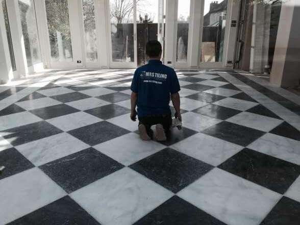 marble floor tiling London